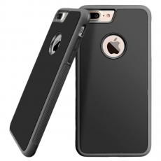 Чехол-накладка Sticks Magic для iPhone 7/8 Plus, полиуретан / поликарбонат, серый / чёрный, фото 1