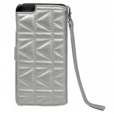 Чехол-книжка для iPhone 6 Plus / 6s Plus Lagerfeld Kuilted, серебряный, фото 1