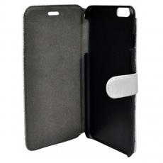 Чехол-книжка для iPhone 6 Plus / 6s Plus Lagerfeld Kuilted, серебряный, фото 3