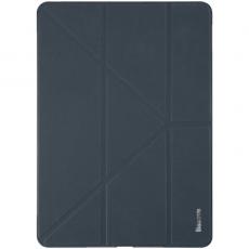 Чехол кожаный Baseus Simplism Y-Type для iPad Pro 12.9, темно-синий, LTAPIPD-E15