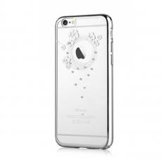 Чехол-накладка Devia Crystal Garland для iPhone 6/6S, серебряный, фото 2