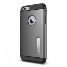 Фото чехла для беспроводной зарядки iPhone 6 и 6s Plus Spigen Slim Armor Volt, стальной