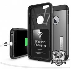 Чехол для беспроводной зарядки iPhone 6 и 6s Plus Spigen Slim Armor Volt, стальной, фото 2