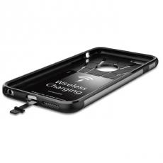 Чехол для беспроводной зарядки iPhone 6 и 6s Plus Spigen Slim Armor Volt, стальной, фото 4