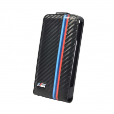 Чехол-раскладушка BMW M collection для iPhone 5/5S, фактура карбона, BMFLP5MC, фото 4