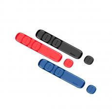 Держатель для проводов Baseus Peas Cable Clip, чёрный, фото 2