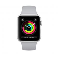 Apple Watch Series 3, 42 мм, корпус из серебристого алюминия, спортивный ремешок дымчатого цвета, фото 1