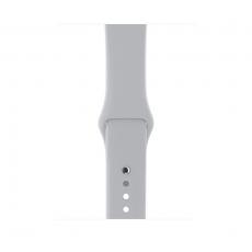 Apple Watch Series 3, 42 мм, корпус из серебристого алюминия, спортивный ремешок дымчатого цвета, фото 2