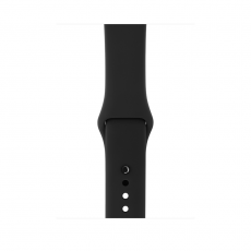 """Apple Watch Series 3, 42 мм, корпус из алюминия цвета """"серый космос"""", спортивный ремешок чёрного цвета, фото 2"""