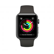 """Apple Watch Series 3, 42 мм, корпус из алюминия цвета """"серый космос"""", спортивный ремешок серого цвета, MR362RU/A, фото 1"""