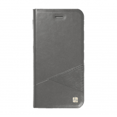 Чехол-книжка Just Must Emboss Triangle Collection для iPhone 5/5s/SE, эко-кожа, серый, фото 1