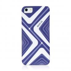 Чехол-накладка HOCO Cool Moving Protective cases для iPhone 5/5s/SE, силикон, белый / синий, фото 1