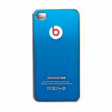 Чехол-накладка Monster beats Metal brush Case для iPhone 5/5s/SE, алюминий, синий, фото 1