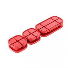Держатель для проводов Baseus Cross Peas Cable Clip, красный, фото 1