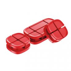 Держатель для проводов Baseus Cross Peas Cable Clip, красный, фото 3