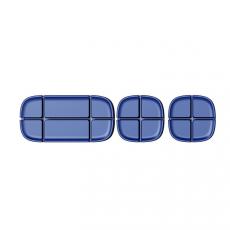 Держатель проводов Baseus Cross Peas Cable Clip, синий, ACTDJ-03