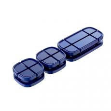 Держатель для проводов Baseus Cross Peas Cable Clip, синий, фото 1