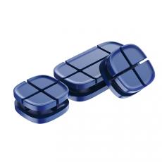 Держатель для проводов Baseus Cross Peas Cable Clip, синий, фото 4