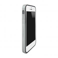 Чехол-бампер Colorant B1 для iPhone 5/5s/SE, полиуретан / поликарбонат, серебристый, фото 1