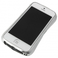 Чехол-бампер Deff Cleave Brushed Metal Style для iPhone 5/5s/SE, алюминий / полиуретан, серебристый, фото 1