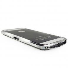 Бампер Deff Cleave Brushed Metal Style для iPhone 5, 5S и SE, серебристый, фото 1