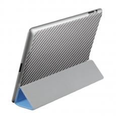 Защитная наклейка для iPad 2/Air 2 SGP Skin Guard Set Series Carbon, серая, фото 1