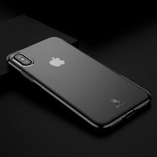 Чехол Baseus Simple Series для iPhone X, прозрачный черный, фото 4