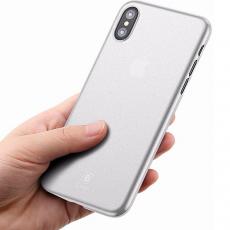 Чехол Baseus wing для iPhone X, прозрачный белый, фото 4
