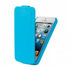 Фото чехла Jison Case Fashion Flip Case для iPhone 5, 5S и SE, голубого