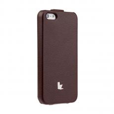 Фото чехла Jison Case Fashion Flip Case для iPhone 5, 5S и SE, коричневого
