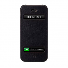 Фото чехла Jison Case Fashion Flip Case для iPhone 5, 5S и SE, чёрный