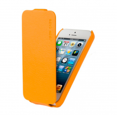 Фото чехла Jison Case Fashion Flip Case для iPhone 5, 5S и SE, янтарный
