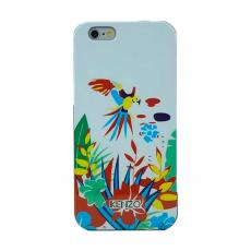 """Чехол KENZO TPU для iPhone 5, 5S и SE, синий, принт """"птицы и цветы"""", фото 1"""