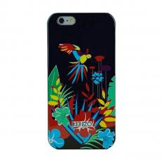 """Чехол KENZO TPU для iPhone 5, 5S и SE,чёрный, принт """"птицы и цветы"""", фото 1"""