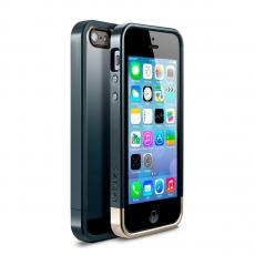 Чехол Spigen Linear Crystal Series для iPhone 5, 5S и SE, тёмно-зелёный металик, фото 1