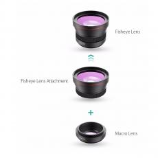 Набор объективов для мобильных устройств AUKEY 2 in 1 (PL-F1), черный, фото 2