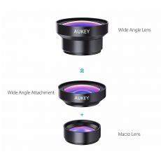 Объектив AUKEY Wide Angle Lens для iPhone, широкоугольный, чёрный, фото 2
