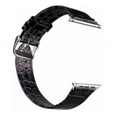Ремешок кродиловая кожа для Apple Watch 42mm, черный, фото 1