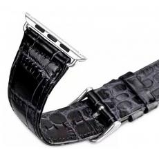 Ремешок кродиловая кожа для Apple Watch 42mm, черный, фото 2