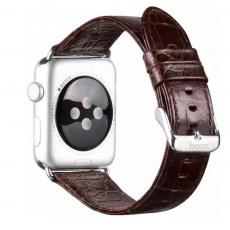 Ремешок кродиловая кожа для Apple Watch 42mm, коричневый, фото 1