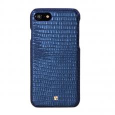 Чехол-накладка Just Must Croco I Collection для iPhone 7/8, натуральная кожа, тёмно-синий, фото 1