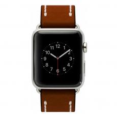 Ремешок кожаный Cozistyle для Apple Watch 42mm, темно-коричневый, CLB012, фото 1