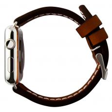 Ремешок кожаный Cozistyle для Apple Watch 42mm, темно-коричневый, CLB012, фото 2