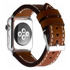 Ремешок кожаный Cozistyle для Apple Watch 42mm, темно-коричневый, CLB012, фото 3