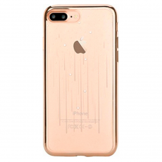 Чехол силиконовый Devia Crystal Meteor для iPhone 8 и 7 Plus, шампанское золото, фото 1