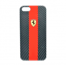Чехол Ferrari Scuderia carbon cover для iPhone 5,5S и SE, красный, фото 1