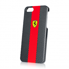 Чехол Ferrari Scuderia carbon cover для iPhone 5,5S и SE, красный, фото 2