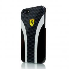 Фото чехла Ferrari Scuderia carbon для iPhone 5, 5S и SE, чёрного
