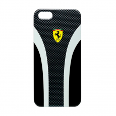 Чехол Ferrari Scuderia carbon cover для iPhone 5,5S и SE, чёрный, фото 2