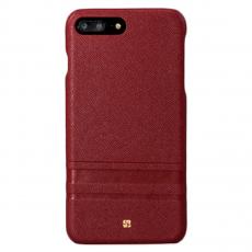 Чехол-накладка Just Must SU III Collection для iPhone 7/8 Plus, поликарбонат / натуральная кожа, бордовый, фото 1